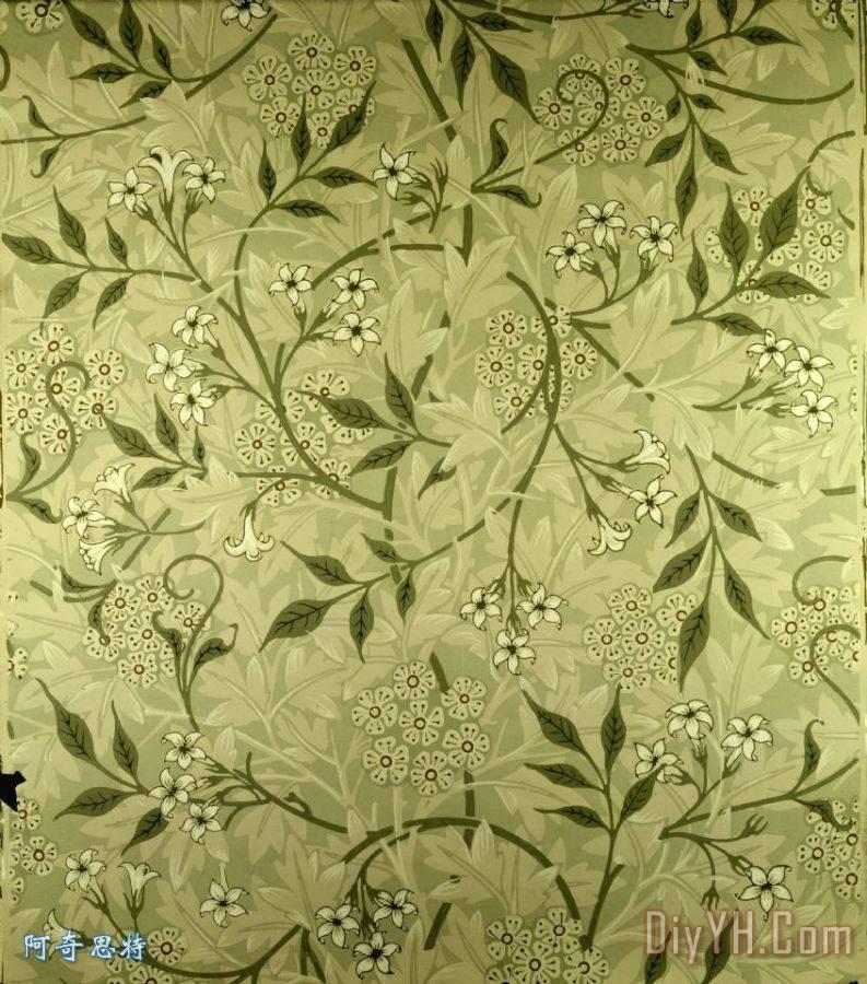 茉莉花壁纸设计装饰画