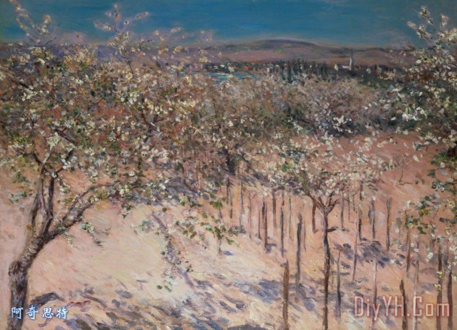 果园开花苹果树装饰画