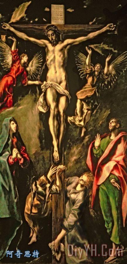 耶稣被钉十字架装饰画