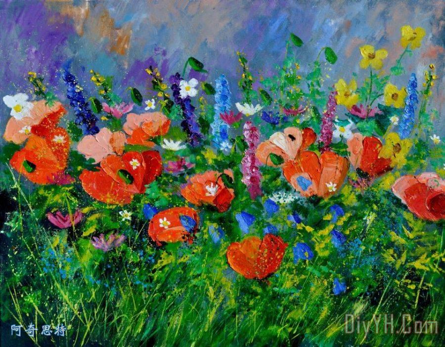 园林花卉装饰画 | 园林花卉油画定制