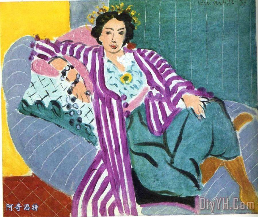 小宫女在紫色长袍1937装饰画