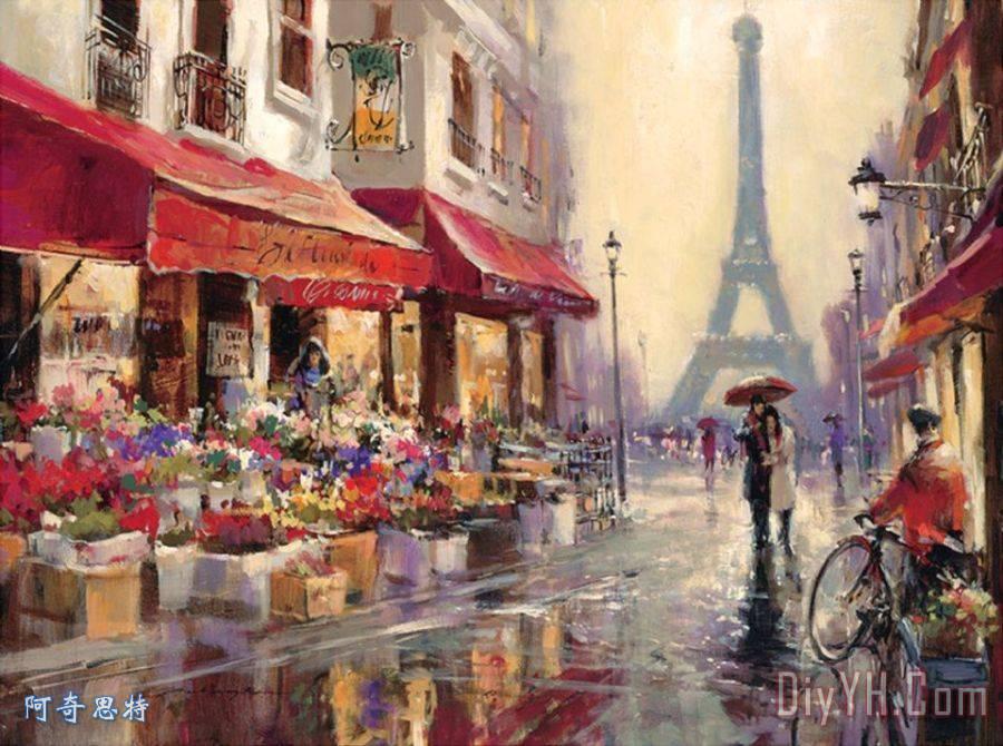 巴黎埃菲尔铁塔装饰画 | 巴黎埃菲尔铁塔油画定制