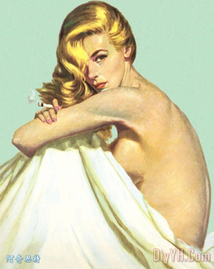 女人全祼体照_裸体女人与表 - 裸体女人与表装饰画