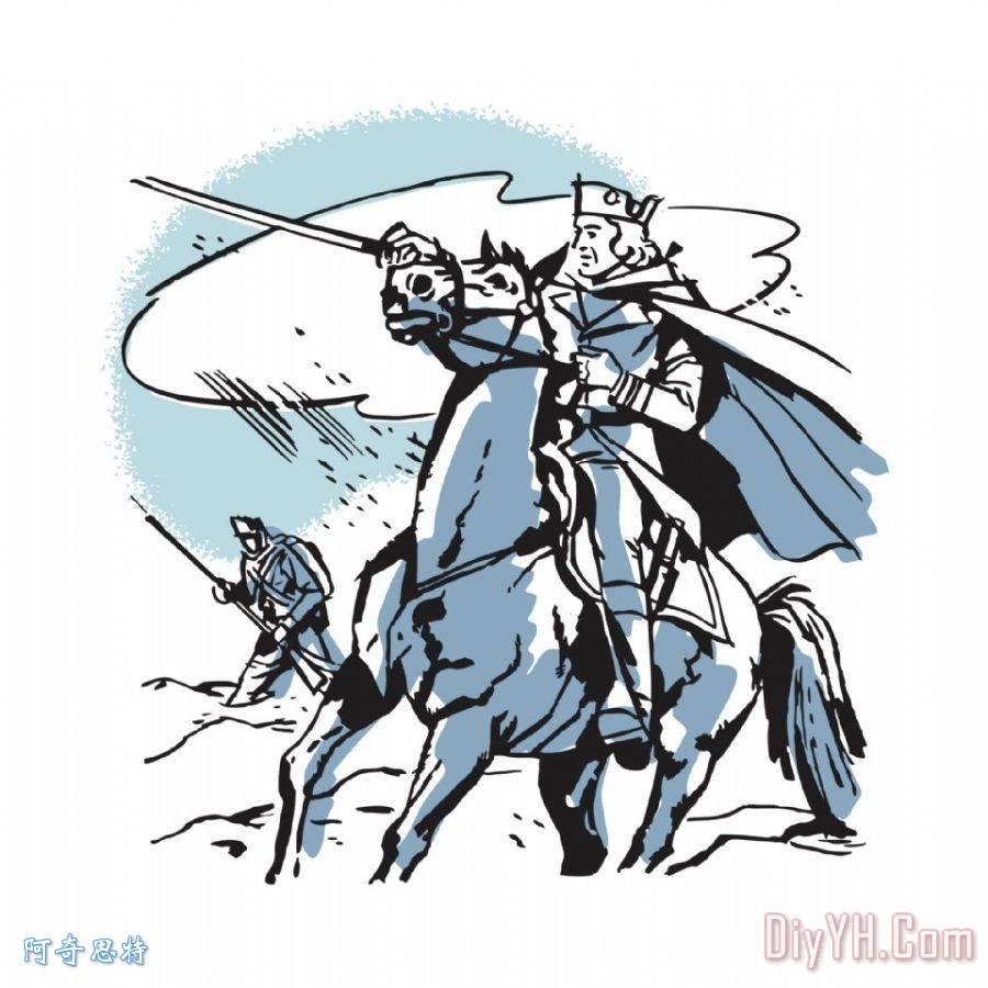 马背上的革命战争时代的士兵装饰画