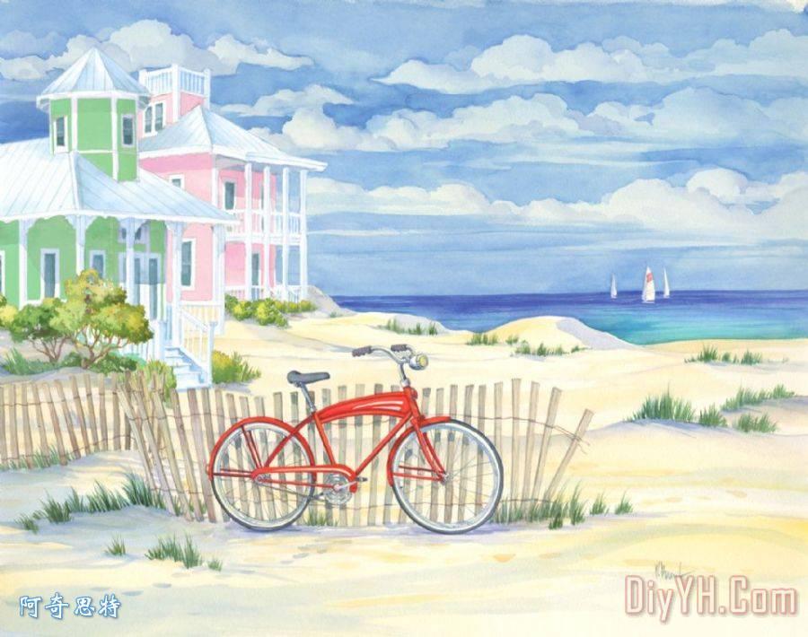 海滩巡洋舰小屋我装饰画