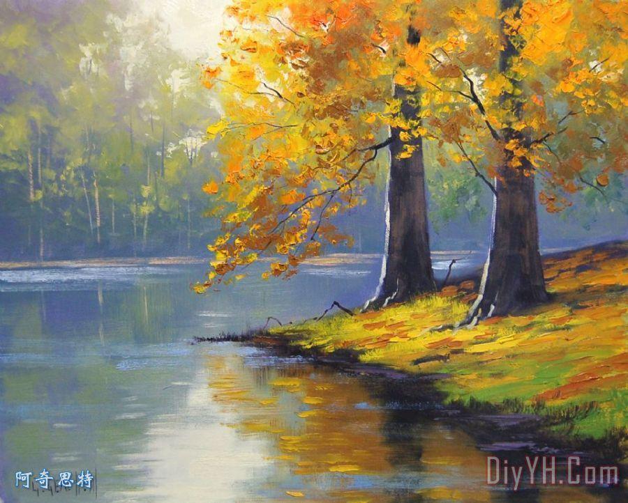 关于秋的风景画