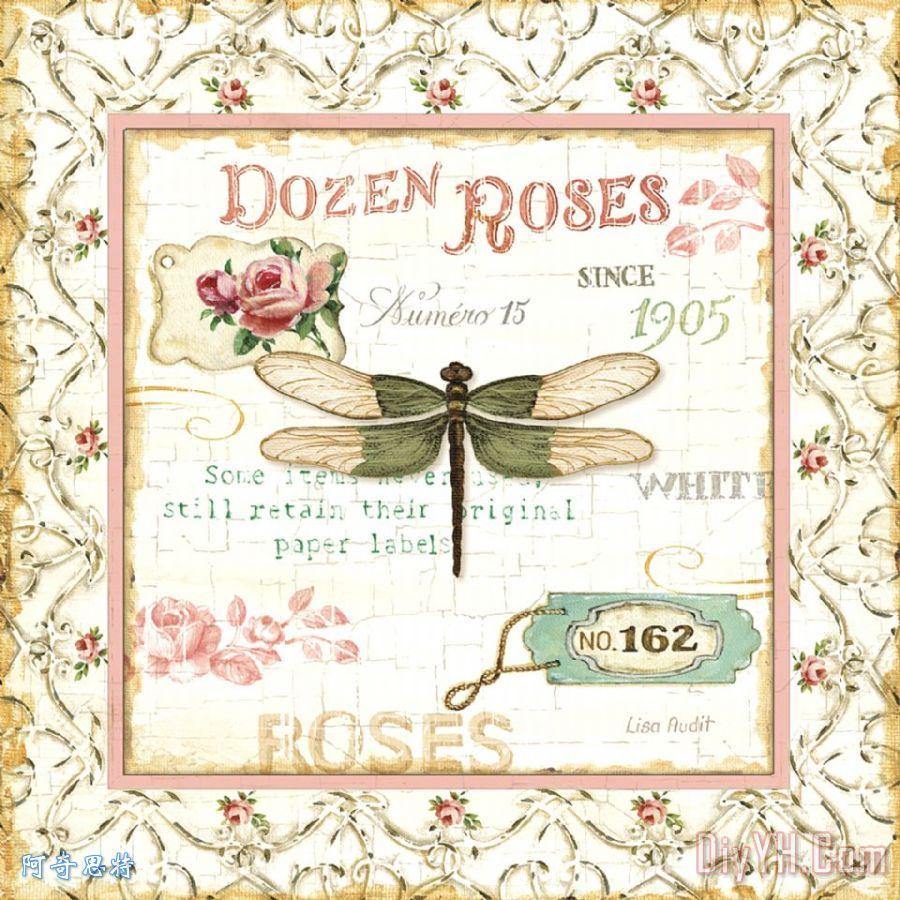 玫瑰花园系列六装饰画