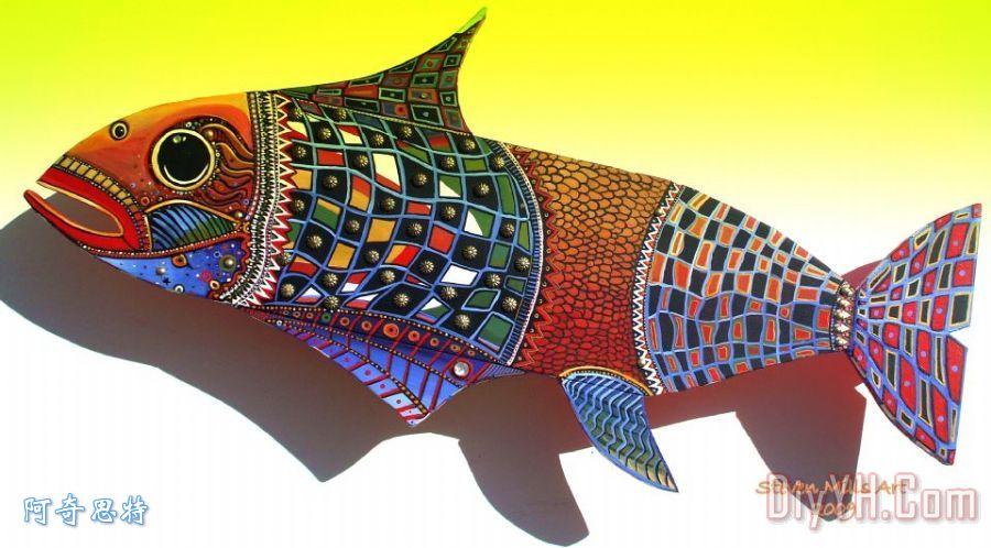 鱼艺术装饰画
