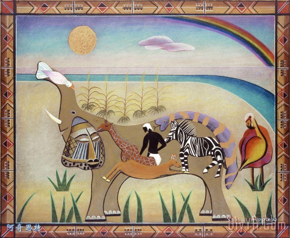 由大象装饰画