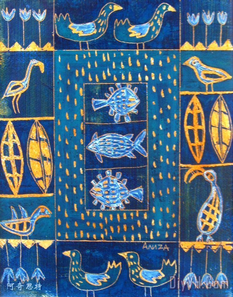 海洋生物四装饰画