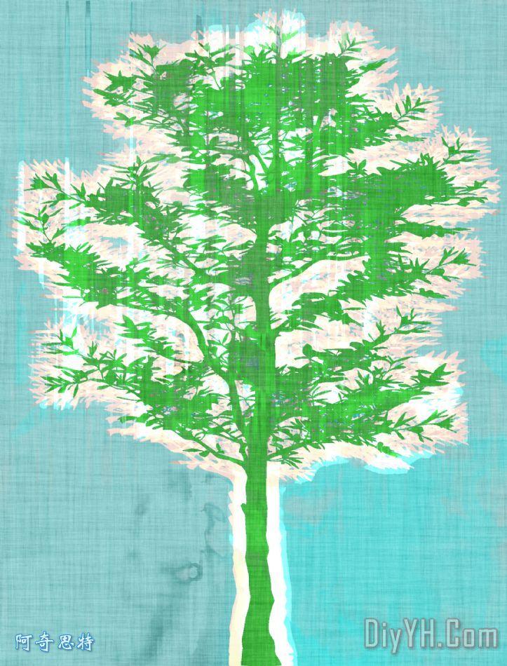 抽象的树装饰画
