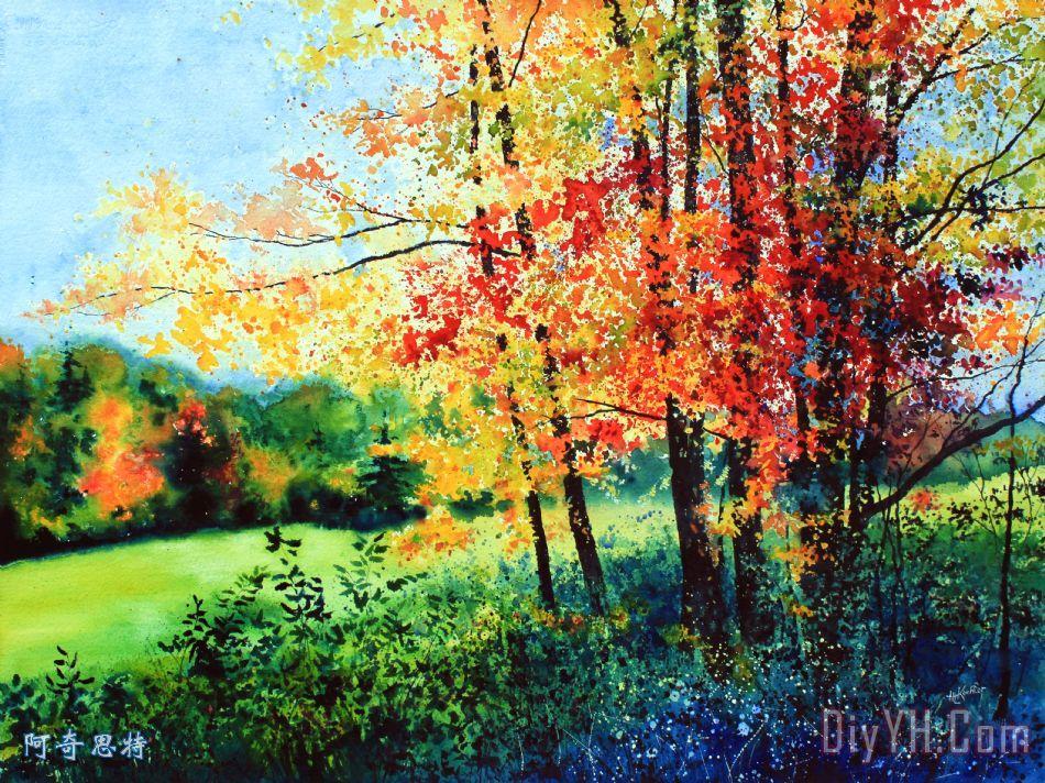 秋天的颜色装饰画