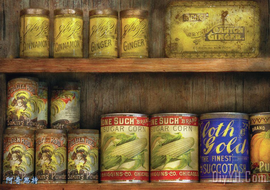 食品- 旧罐装饰画