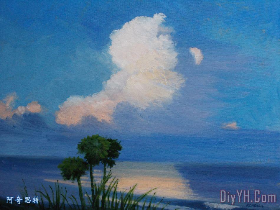 海洋日落2装饰画