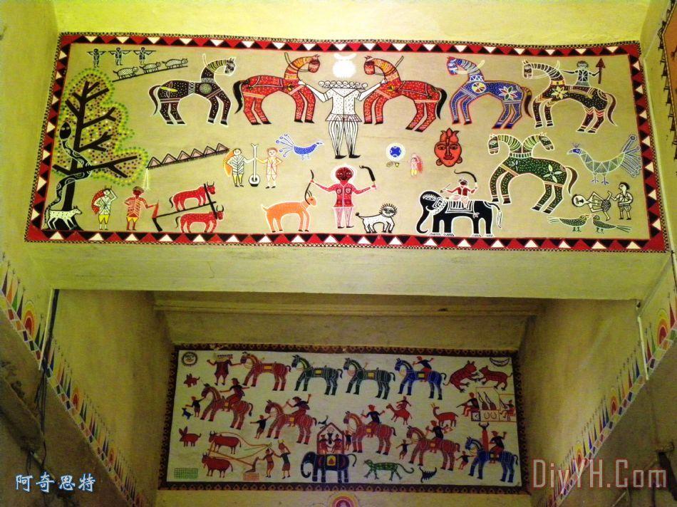 贡德部落艺术装饰画