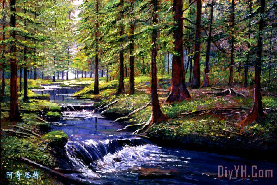 森林与河流  相关分类:风景美克美家简欧风格现代风格美式风格客厅画