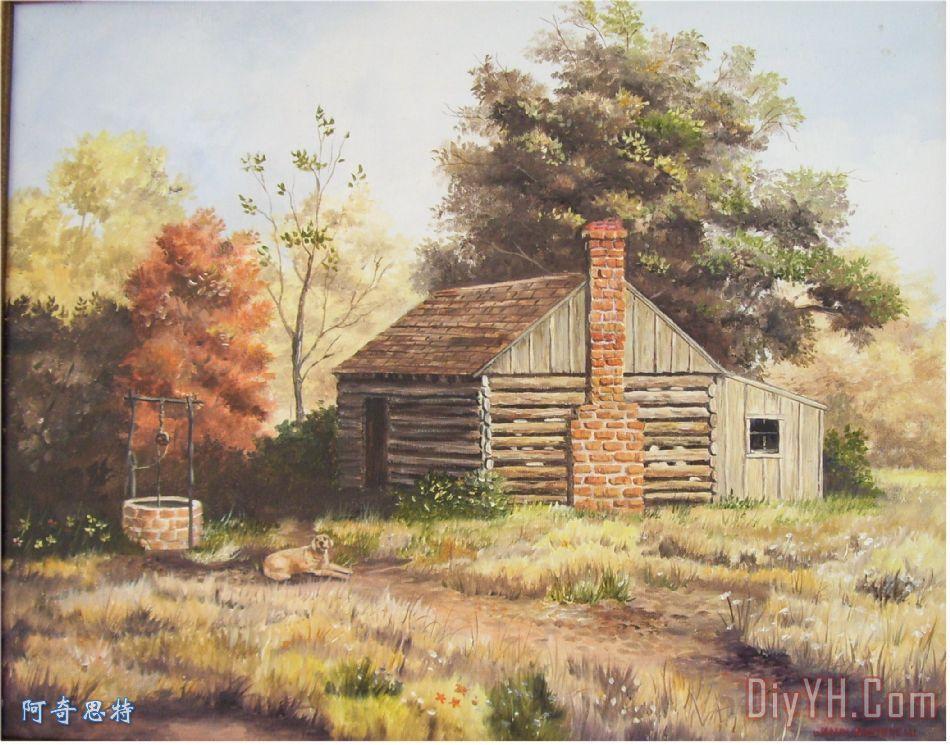 一间小木屋在田纳西州装饰画