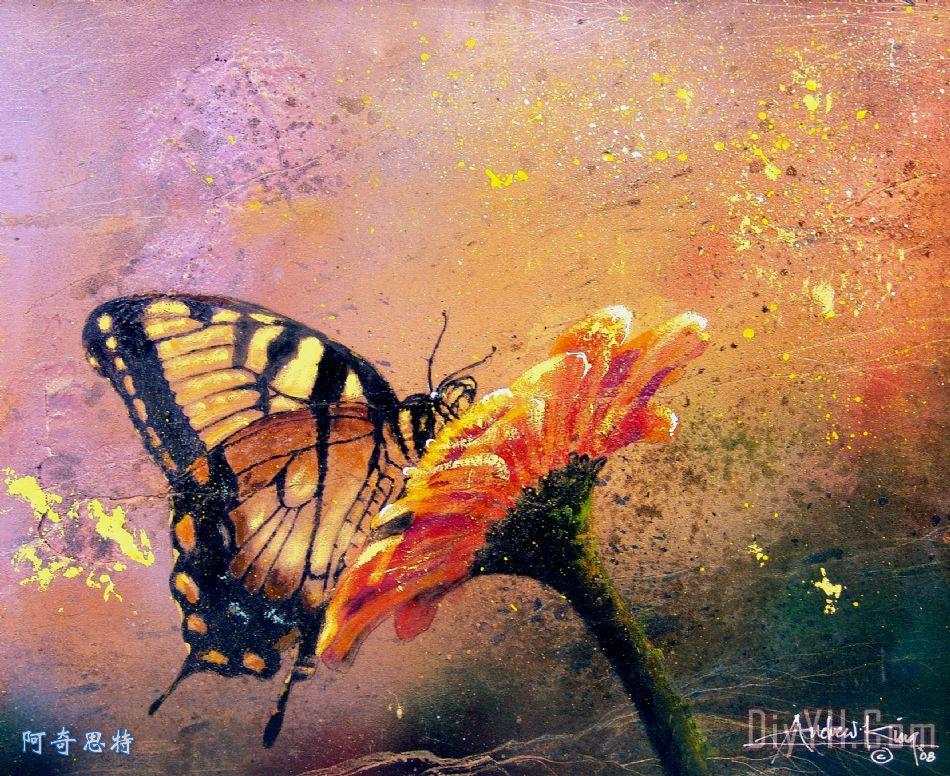 蝴蝶装饰画 | 蝴蝶油画定制 | 阿奇思特