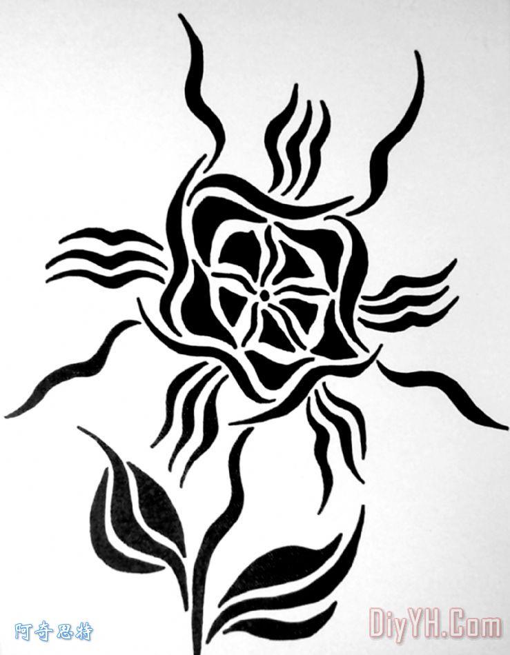 抽象的花卉装饰画
