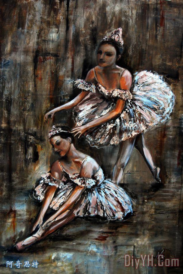 芭蕾舞女演员装饰画_舞蹈_舞会_人物_剧院_比喻_芭蕾
