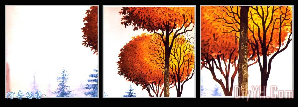 夕阳大树 - 夕阳大树装饰画