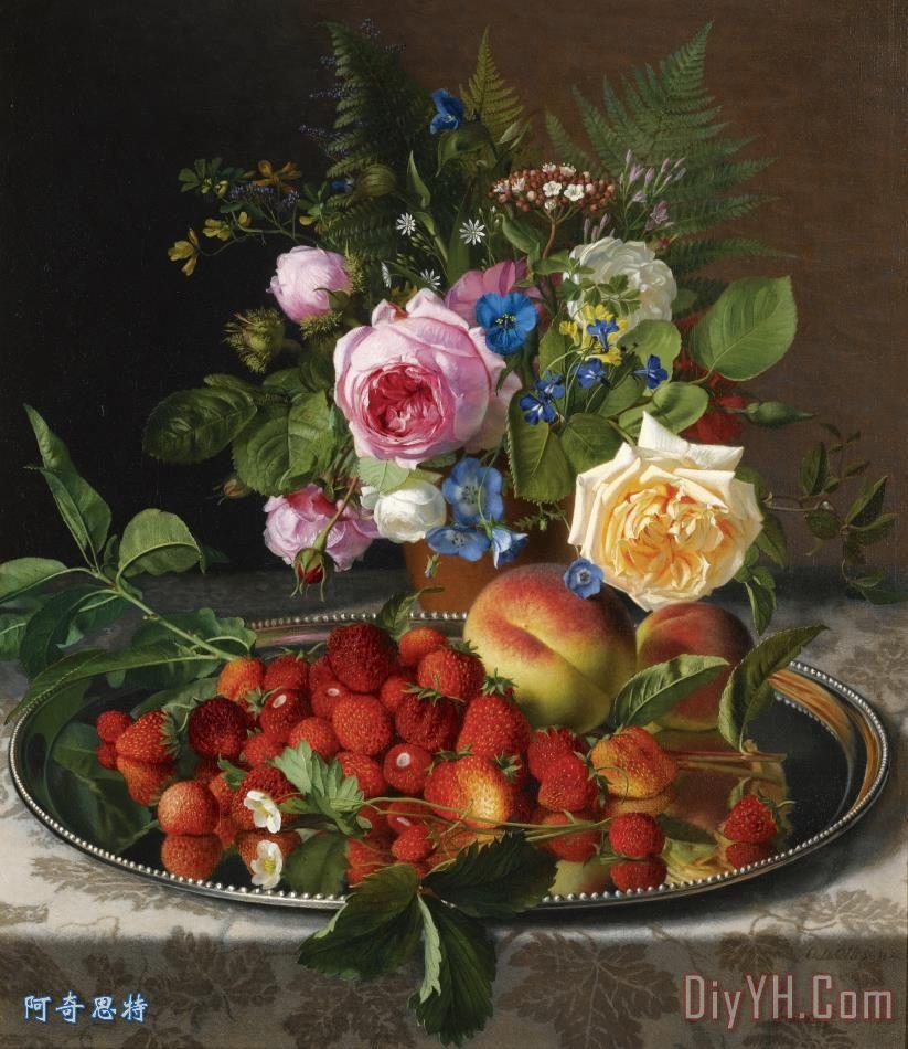 静物花卉油画超写实主义油画静物装饰画