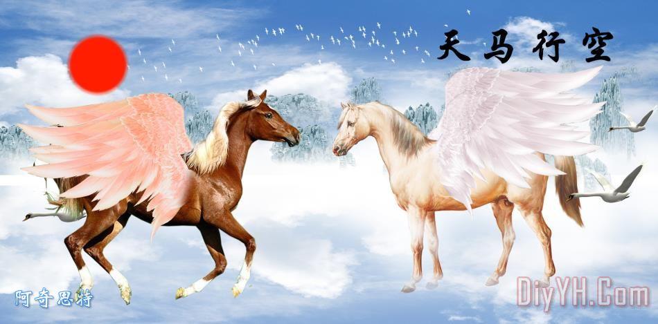 八骏马装饰画